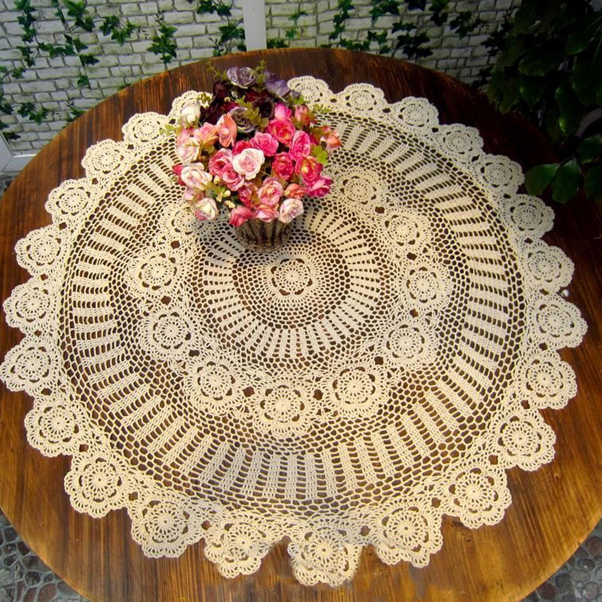 Crochet Round Tablecloths New White Cotton Crochet Tablecloth Of Unique 43 Pictures Crochet Round Tablecloths