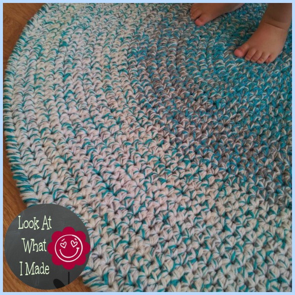 Crochet Rug Awesome Crochet Round Rug ⋆ Look at What I Made Of Top 44 Photos Crochet Rug