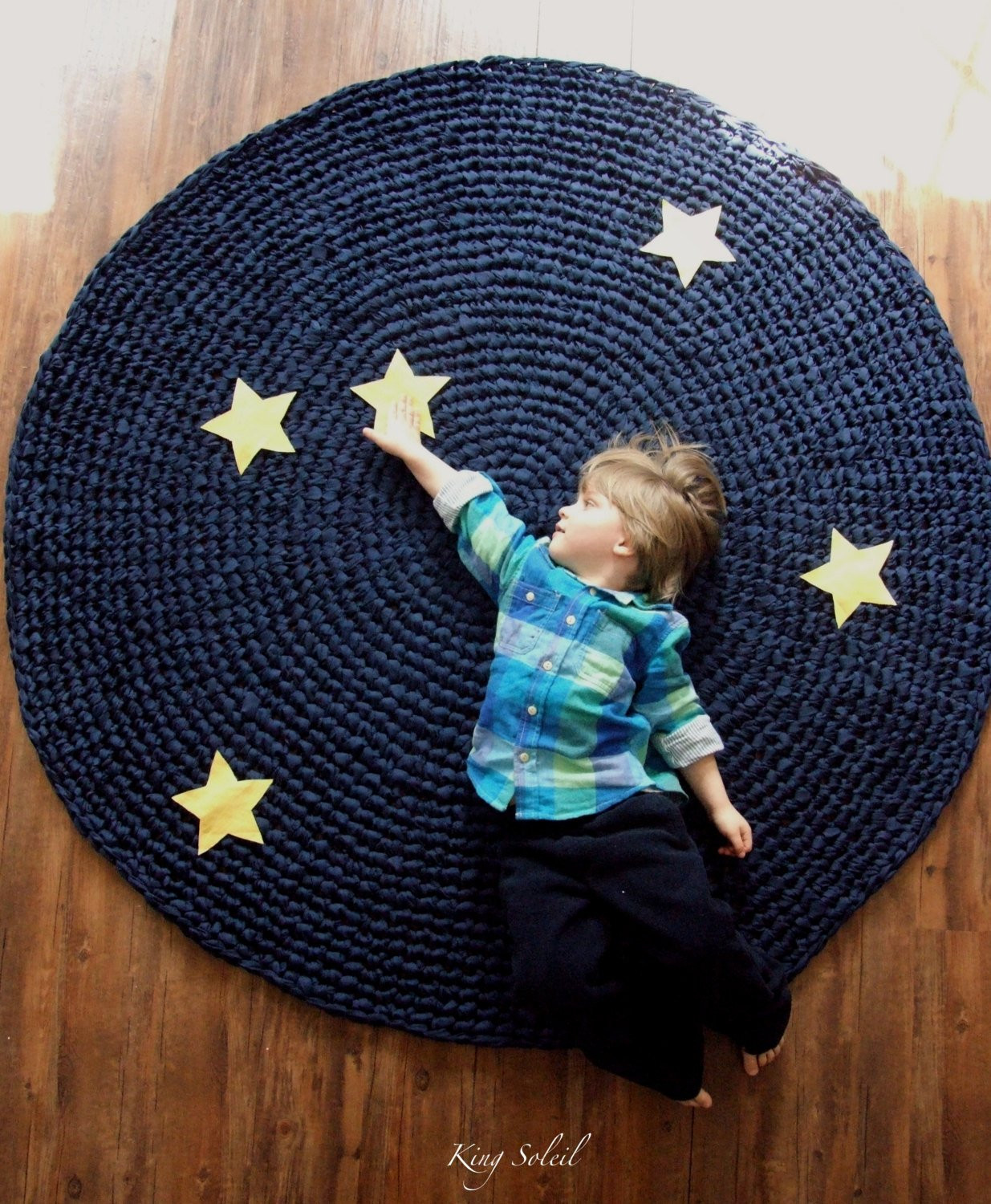 Crochet Rug Best Of Kids Rug Reach for the Stars Navy Cotton Crochet Rug with Of Top 44 Photos Crochet Rug