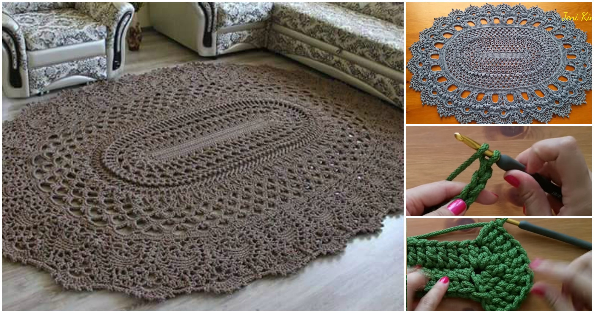 Crochet Rug Patterns Awesome Oval Rug Video Tutorial Pretty Ideas Of Amazing 41 Images Crochet Rug Patterns