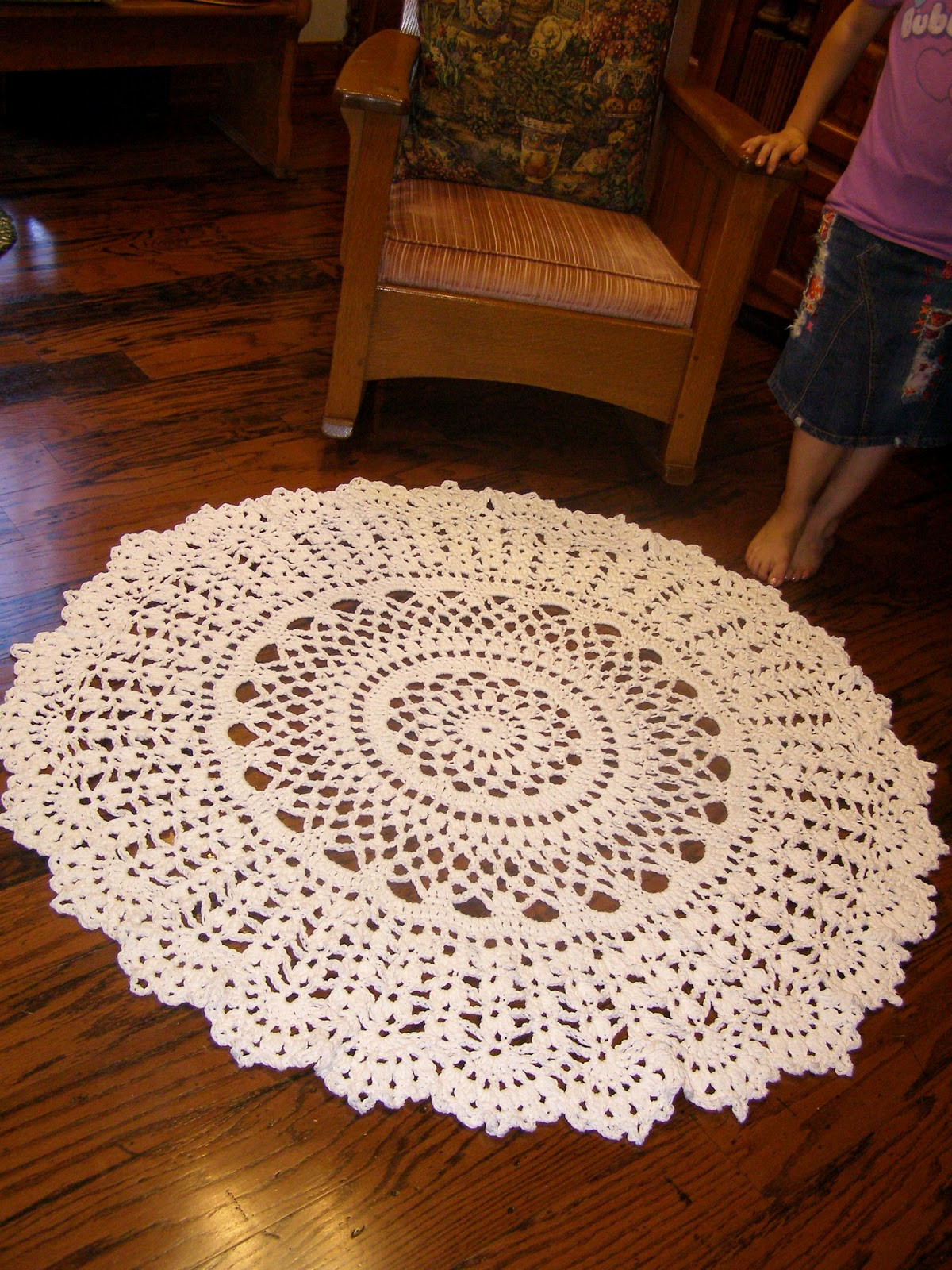 Crochet Rug Unique Lace and Whimsy Crocheted Rug Doily Coverlet Afghan Of Top 44 Photos Crochet Rug
