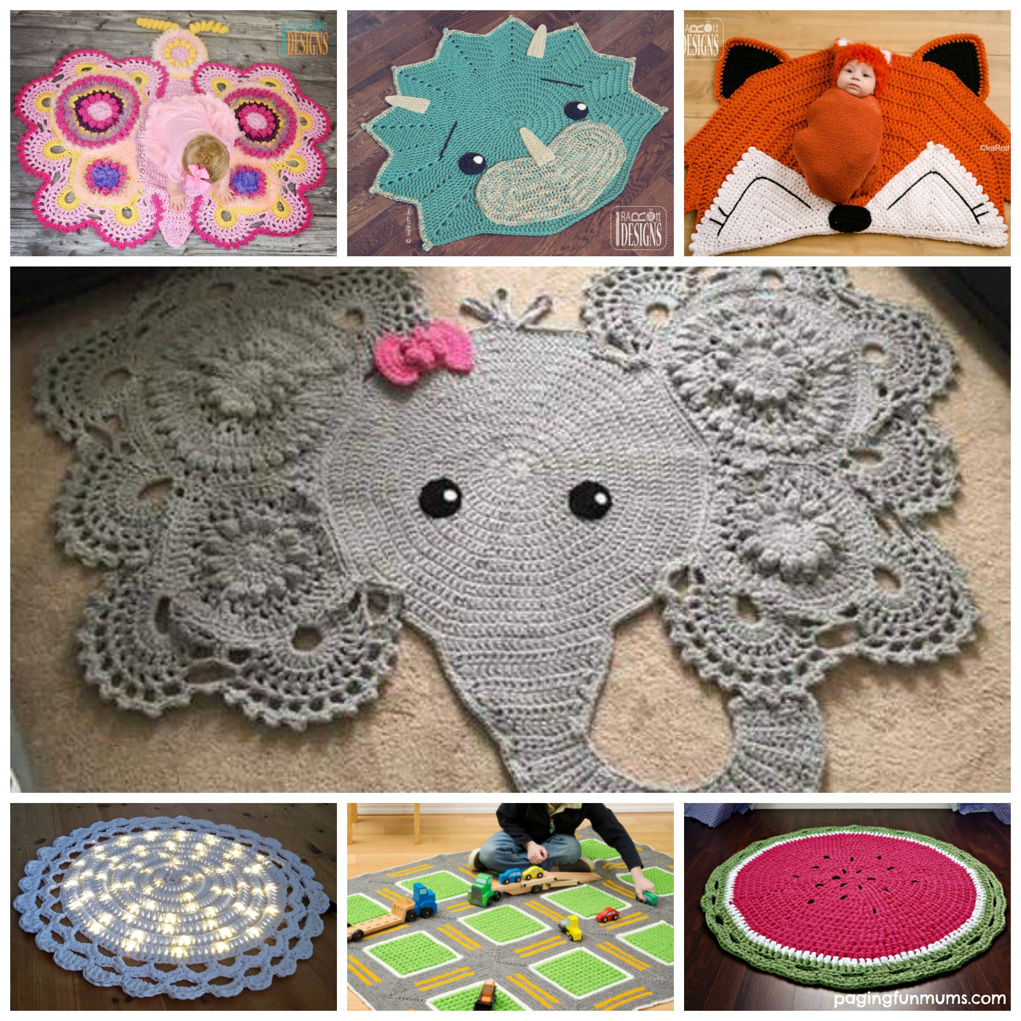 Clever Crochet Throw Rugs Paging Fun Mums