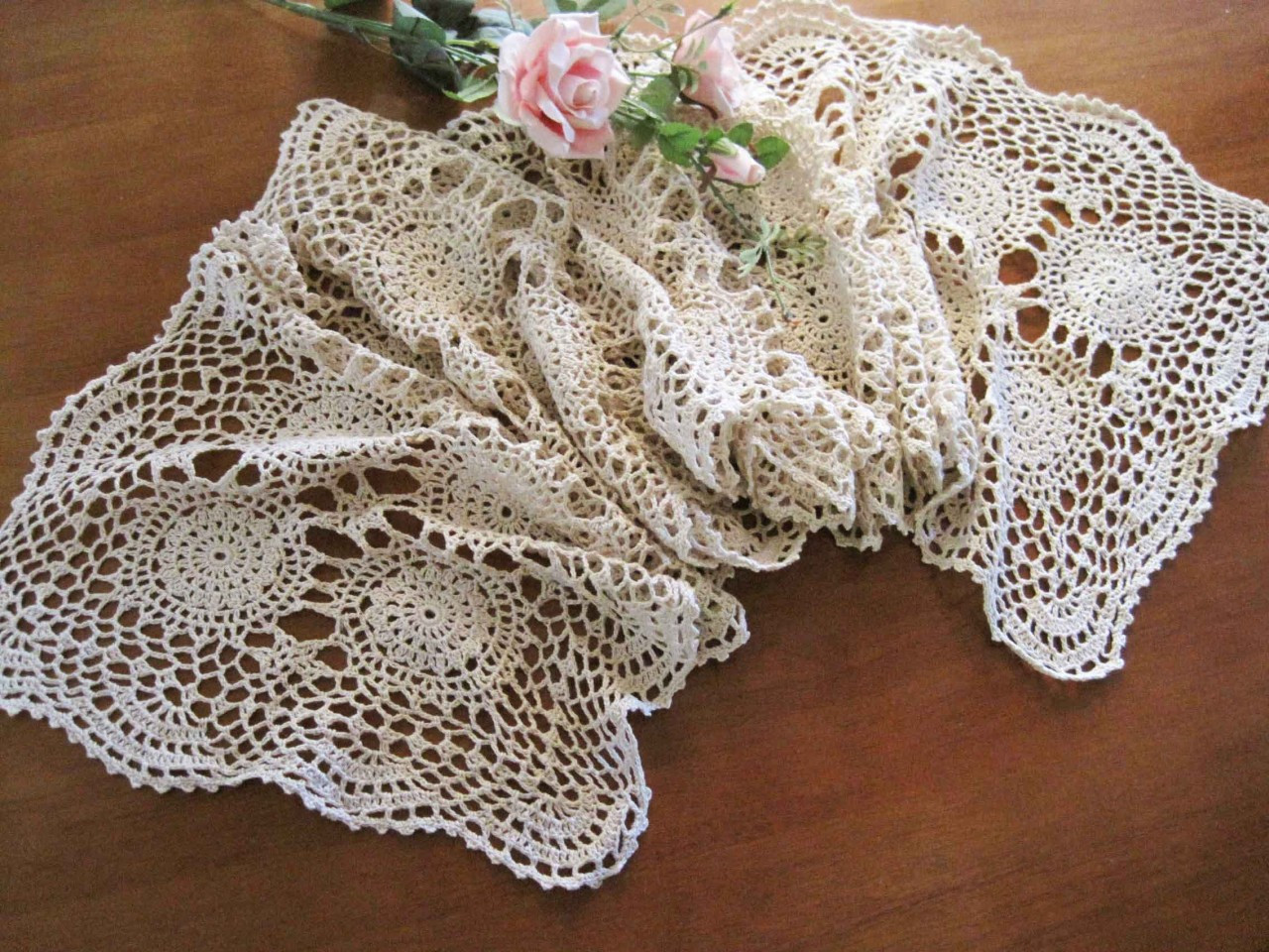 Crochet Runner Awesome Vintage Hand Crochet Lace Cotton Table Runner Ecru 180cm Of Fresh 45 Ideas Crochet Runner