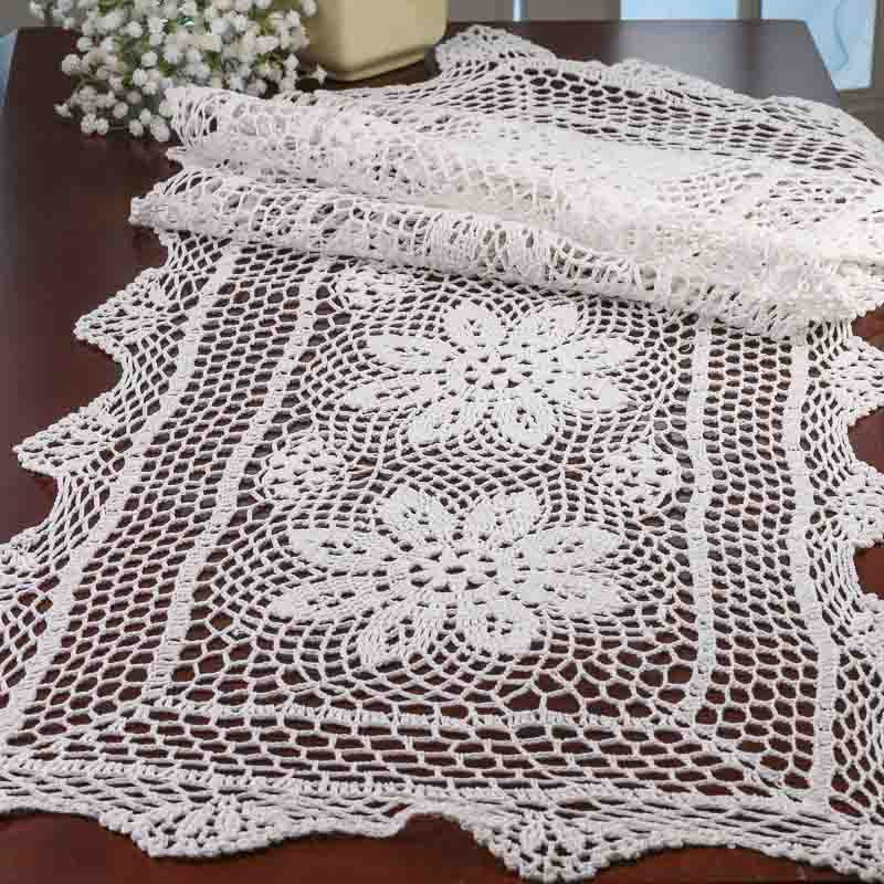 Crochet Runner Fresh White Crocheted Doily Table Runner Crochet and Lace Of Fresh 45 Ideas Crochet Runner