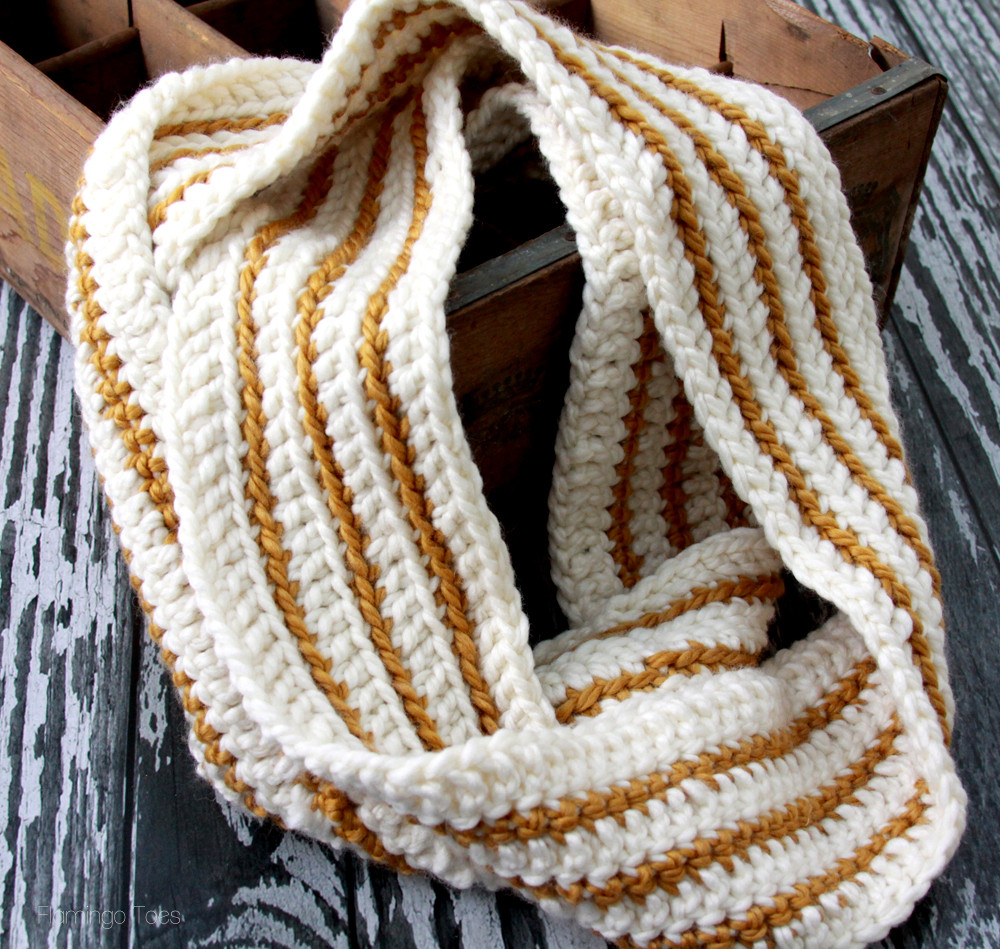 Crochet Scarf Awesome Cozy Striped Crochet Infinity Scarf Of Incredible 48 Images Crochet Scarf