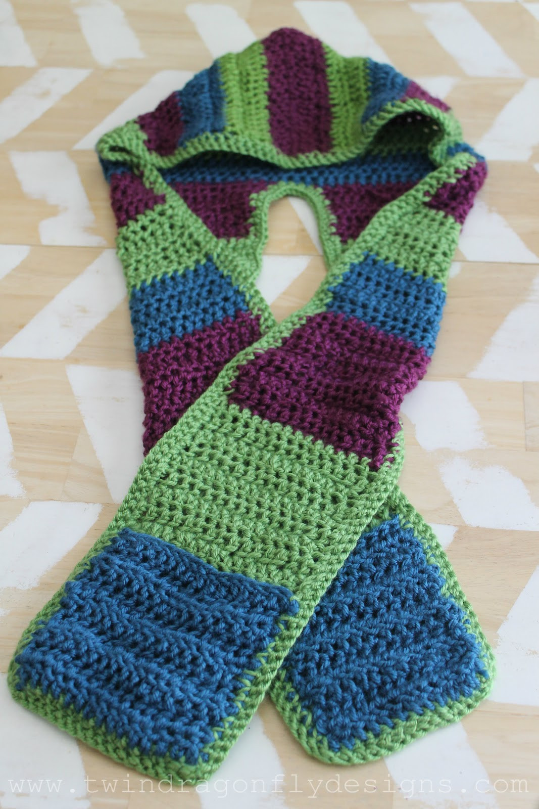 Crochet Scarf Awesome Crochet Hooded Scarf Pattern Dragonfly Designs Of Incredible 48 Images Crochet Scarf