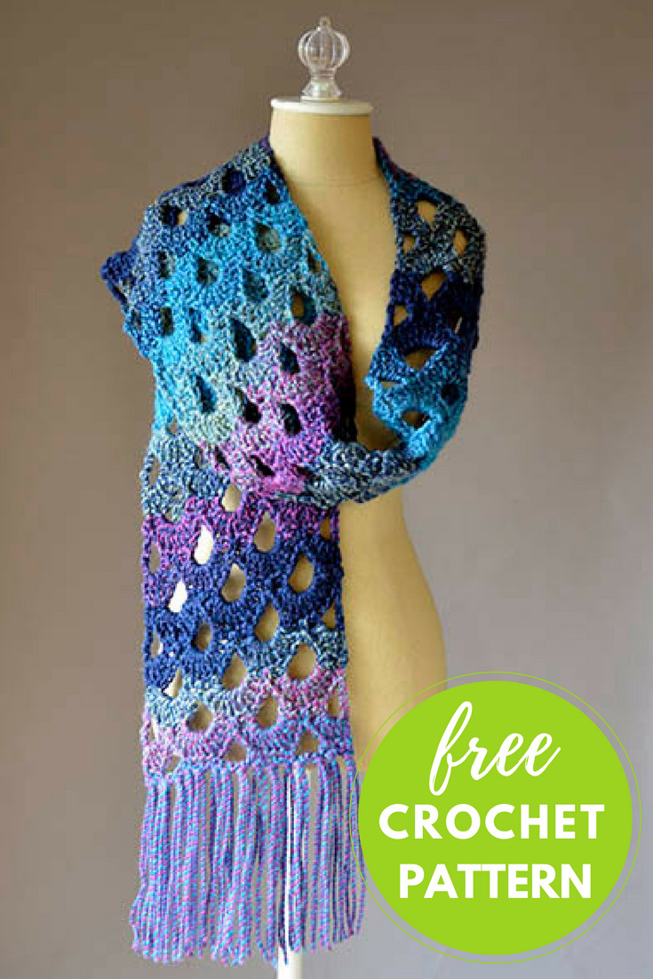 Crochet Scarf Awesome Zeppelin Scarf Free Crochet Pattern — Blog Nobleknits Of Incredible 48 Images Crochet Scarf