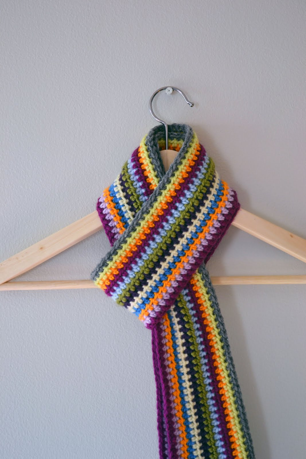 Crochet Scarf New Crochet In Color Scrapadelic Scarf Of Incredible 48 Images Crochet Scarf