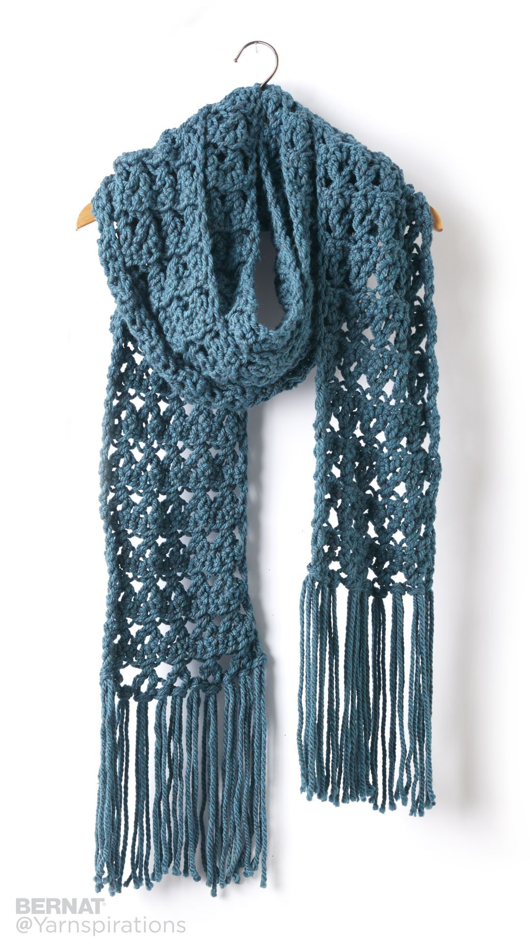 Bernat Crossing Paths Crochet Super Scarf Crochet Pattern