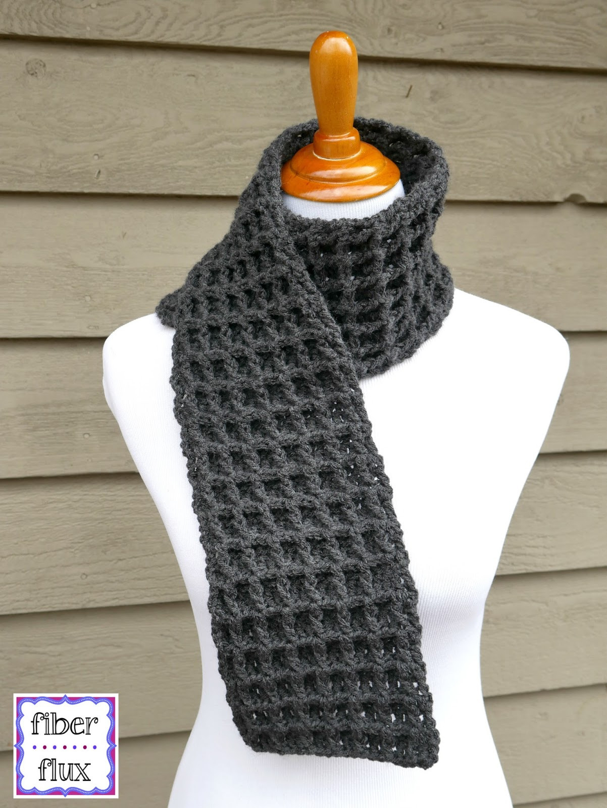 Crochet Scarf Patterns Awesome Fiber Flux Free Crochet Pattern Waffle Stitch Crochet Of Charming 49 Models Crochet Scarf Patterns