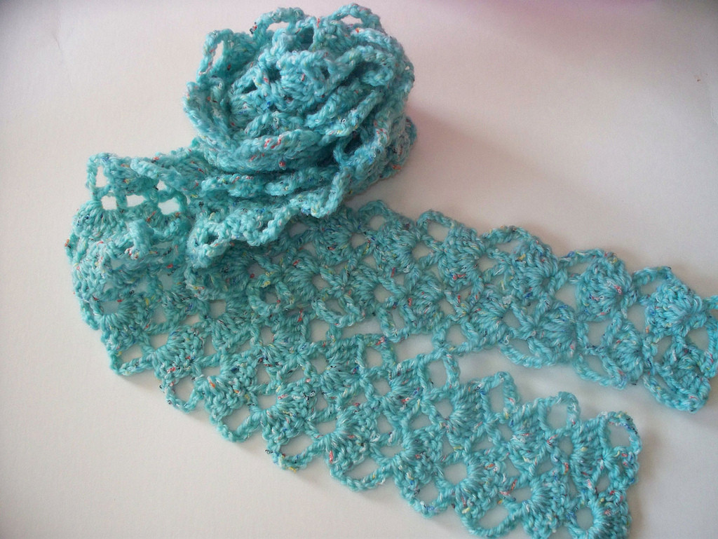 Crochet Scarf from Vintage Lace Pattern a photo on