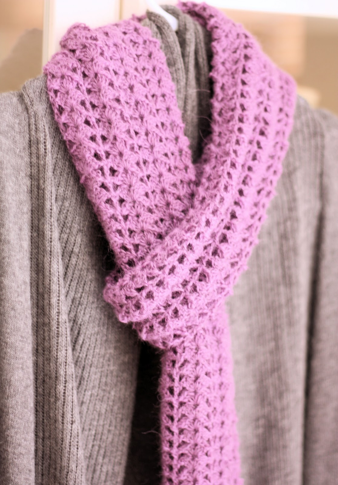 crocheted scarf free pattern