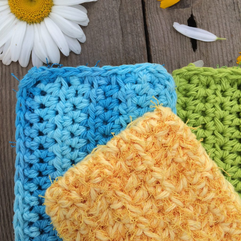 Crochet Kitchen Scrubby Pattern Quick and easy pattern