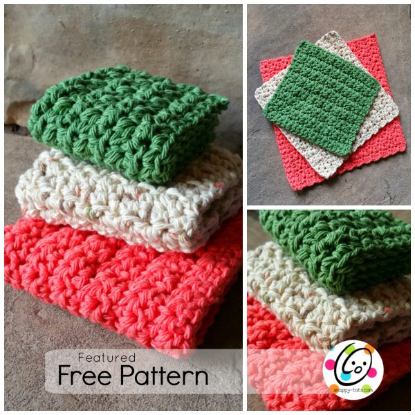 Crochet Scrubbies Pattern Unique Featured Free Pattern Just Right Dishcloths Snappy tots Of Unique 43 Models Crochet Scrubbies Pattern