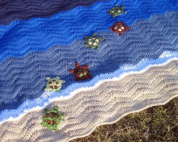 Crochet Sea Turtle Blanket Beautiful Hand Crocheted Swimming Turtles Baby Blanket Of Awesome 47 Photos Crochet Sea Turtle Blanket
