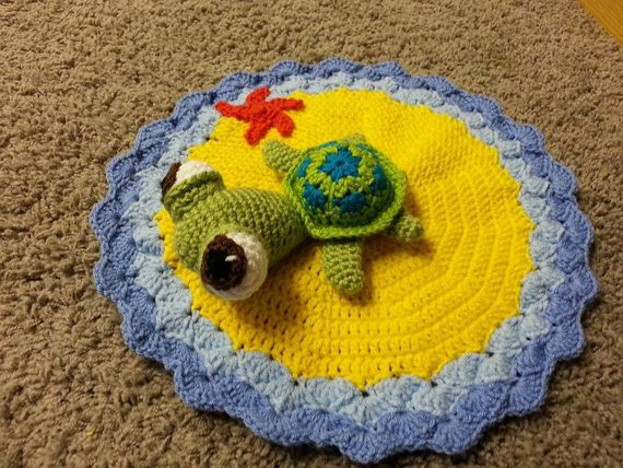 Crochet Sea Turtle Blanket Unique Crochet Squirt the Sea Turtle Lovey Security by Of Awesome 47 Photos Crochet Sea Turtle Blanket