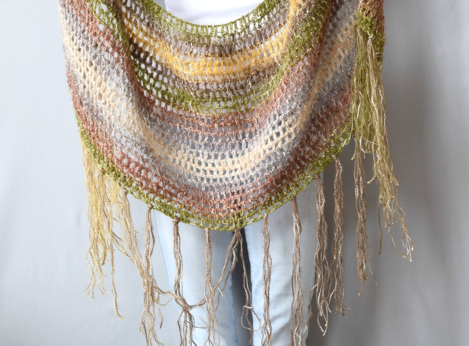 "e Skein Crochet ""Boho Shawl"" Pattern – Mama In A Stitch"