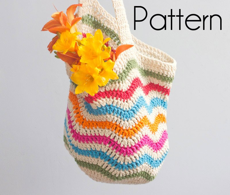Crochet Shopping Bag Awesome Shopping tote Crochet Pattern Pdf Digital Download Chevron Of New 47 Ideas Crochet Shopping Bag