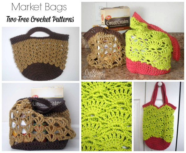 Market Bags Two Free Crochet Patterns Cre8tion Crochet