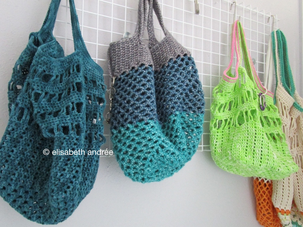 crochet bags and a secret project
