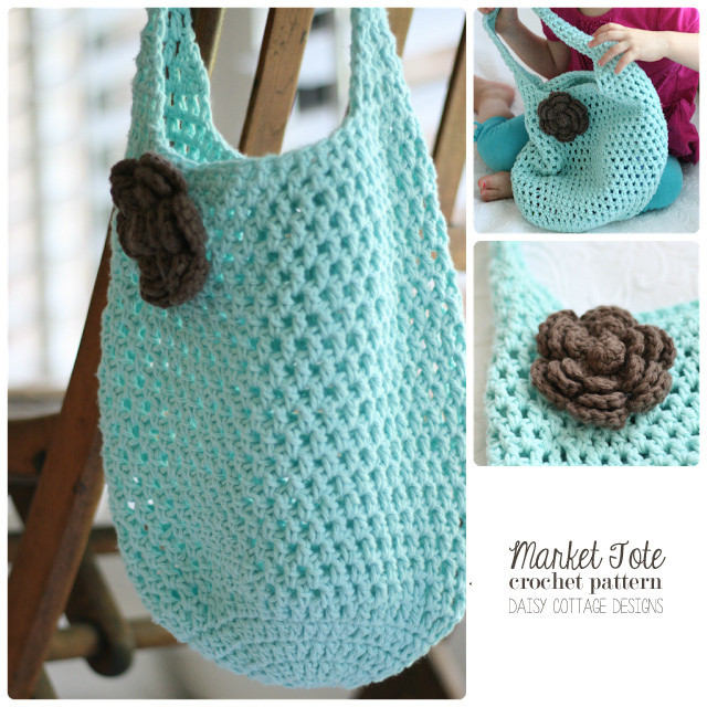 Crochet Shopping Bag Unique Free Market tote Crochet Pattern Daisy Cottage Designs Of New 47 Ideas Crochet Shopping Bag