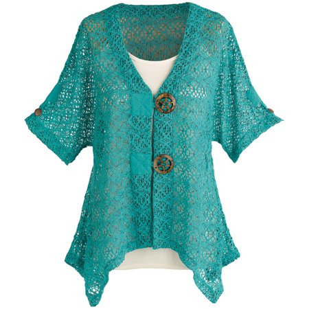Crochet Short Sleeve Cardigan Awesome Women S Crochet Knit Short Sleeve Cardigan Sweater Jacket Of Perfect 44 Pics Crochet Short Sleeve Cardigan