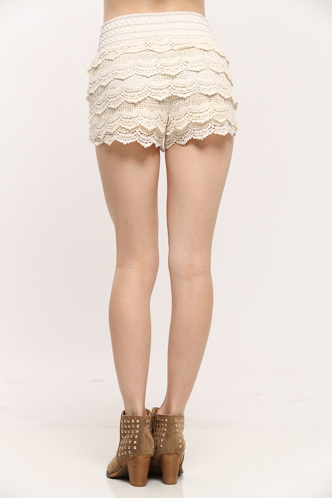 Crochet Shorts Womens Beautiful Scalloped Crochet Shorts Cicihot Shorts Women S Shorts Of Lovely 46 Photos Crochet Shorts Womens