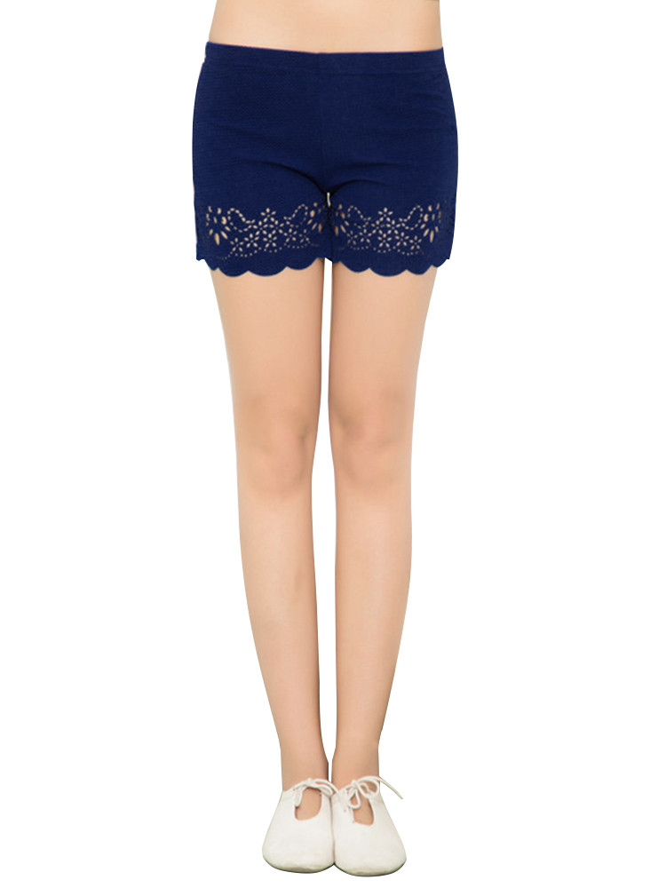 Crochet Shorts Womens Beautiful Y Casual Crochet Hollow Out Stretch Waist Shorts for Of Lovely 46 Photos Crochet Shorts Womens