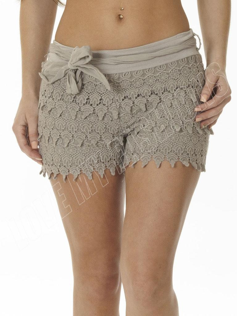 Crochet Shorts Womens Unique New Womens La S Summer Y Crochet Layered Lace Hot Of Lovely 46 Photos Crochet Shorts Womens