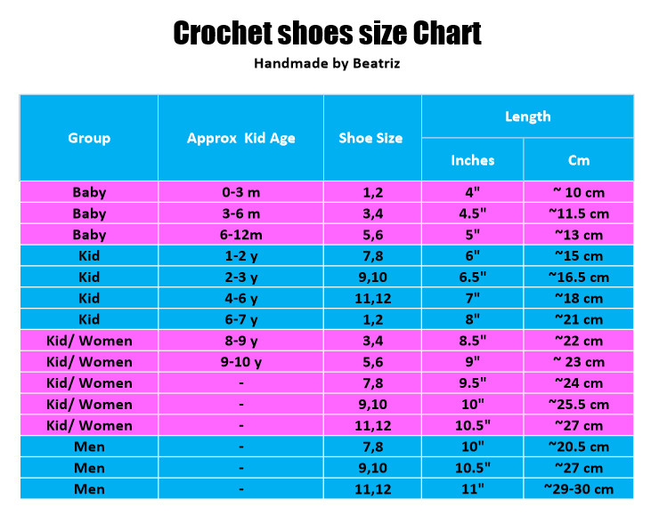 Crochet Size Chart Inspirational 15 Free Size Chart Templates Docx Pdf Ms Word Of Incredible 40 Ideas Crochet Size Chart