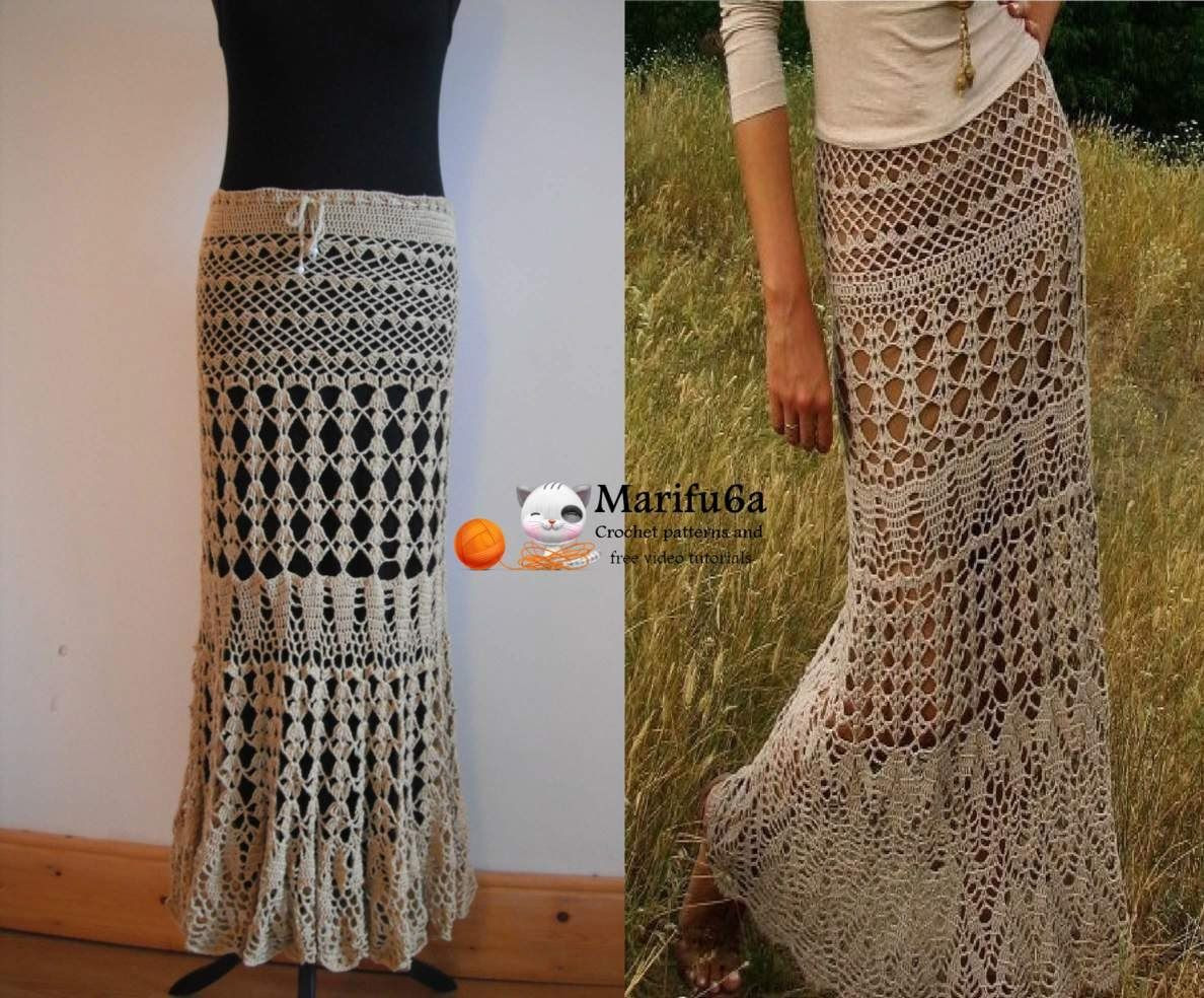 Crochet Skirt Unique Full My Pattern with Diagrams Detailed Photo Step by Of Amazing 45 Pics Crochet Skirt
