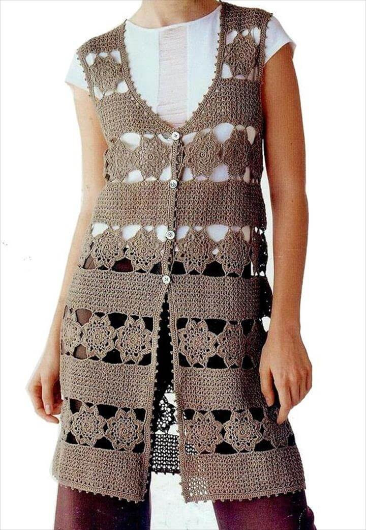 Crochet Sleeveless Cardigan Inspirational 20 Awesome Crochet Sweaters for Women S Of Marvelous 43 Models Crochet Sleeveless Cardigan