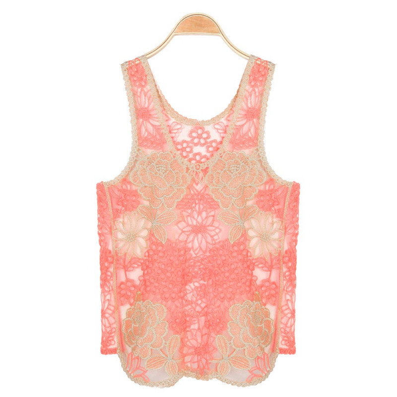 Crochet Sleeveless top Inspirational Buy Lace Embroidery Floral Crochet Vest Tank tops Of Perfect 47 Images Crochet Sleeveless top