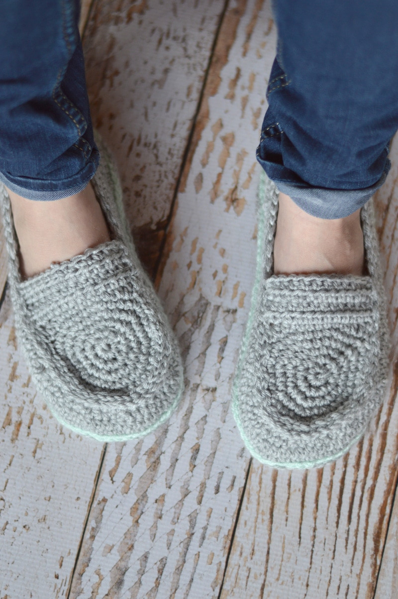 Women s Loafer Slippers Crochet Pattern Whistle and Ivy