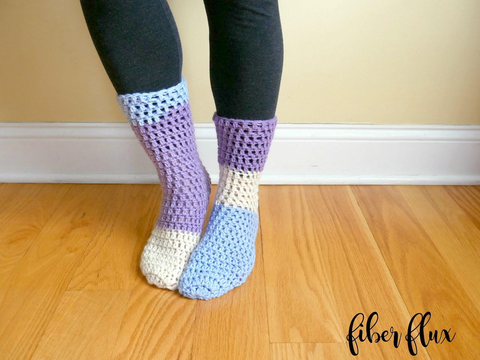 Crochet Slipper socks Beautiful Fiber Flux Free Crochet Pattern Home All Day Slipper socks Of Charming 47 Photos Crochet Slipper socks