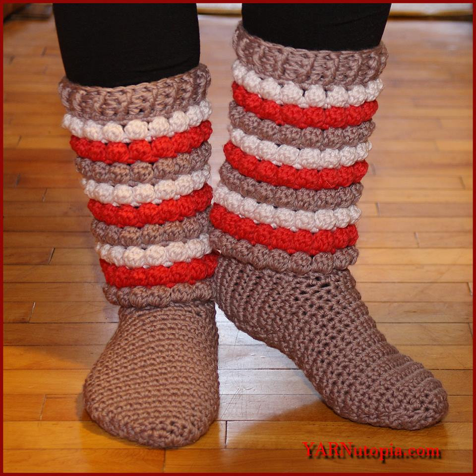 Crochet Slipper socks Lovely Crochet Tutorial Winter Chic Slippers Yarnutopia by Of Charming 47 Photos Crochet Slipper socks