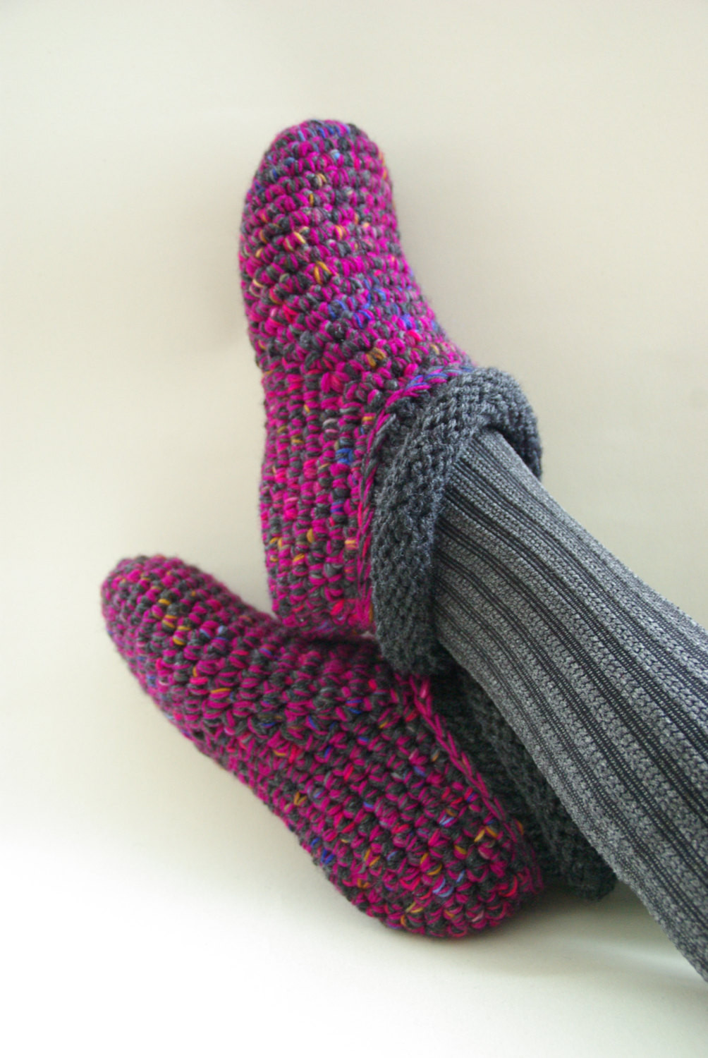 Crochet Slipper socks New Crochet Slipper socks Warm Wool Slippers Bed socks Handmade Of Charming 47 Photos Crochet Slipper socks
