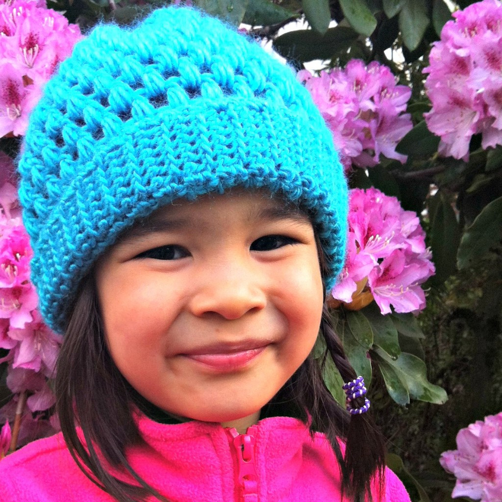 Sew Creative Crocheted Kids Slouch Hat Pattern Great for