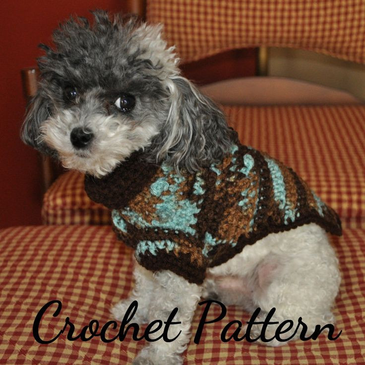 DOG SWEATER Crochet PATTERN Small Dog Sweater Crochet