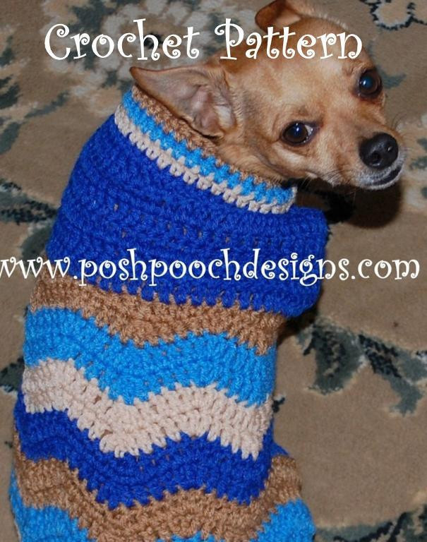 Crochet Small Dog Sweater Pattern Beautiful Chevron Dog Sweater for Small Dogs by Posh Pooch Craftsy Of Incredible 47 Images Crochet Small Dog Sweater Pattern