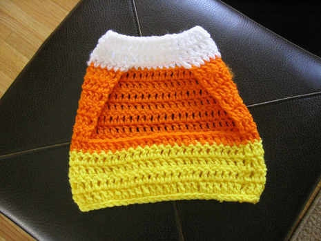 Crochet Small Dog Sweater Pattern Fresh Crochet A Candy Corn Pet Sweater Of Incredible 47 Images Crochet Small Dog Sweater Pattern