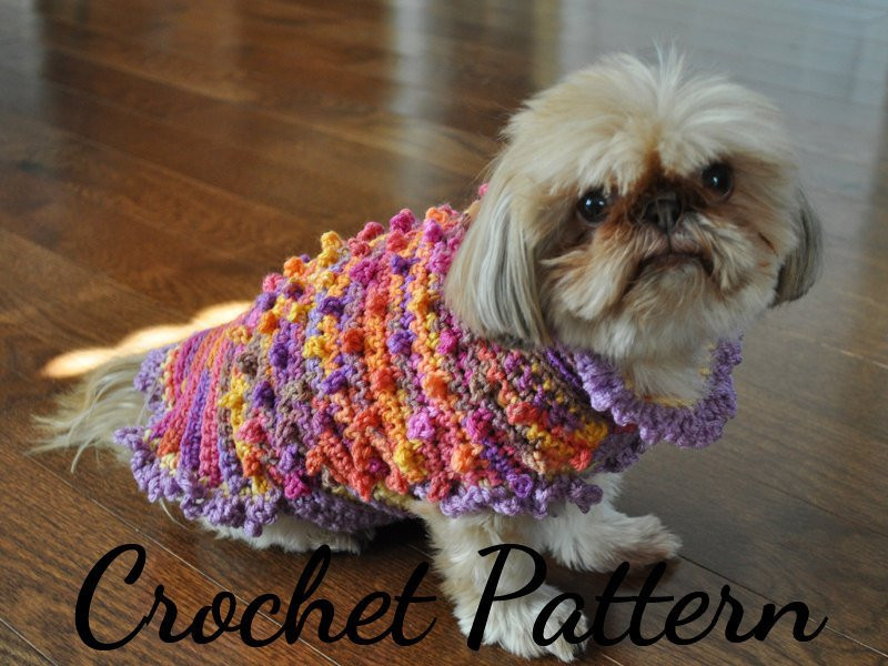 Crochet Small Dog Sweater Pattern Luxury Crochet Pattern Dog Sweater Small Dog Patterns Crochet Of Incredible 47 Images Crochet Small Dog Sweater Pattern