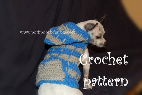 Crochet Small Dog Sweater Pattern Unique Instant Download Crochet Pattern Hooded Dog Sweater 2 Color Of Incredible 47 Images Crochet Small Dog Sweater Pattern