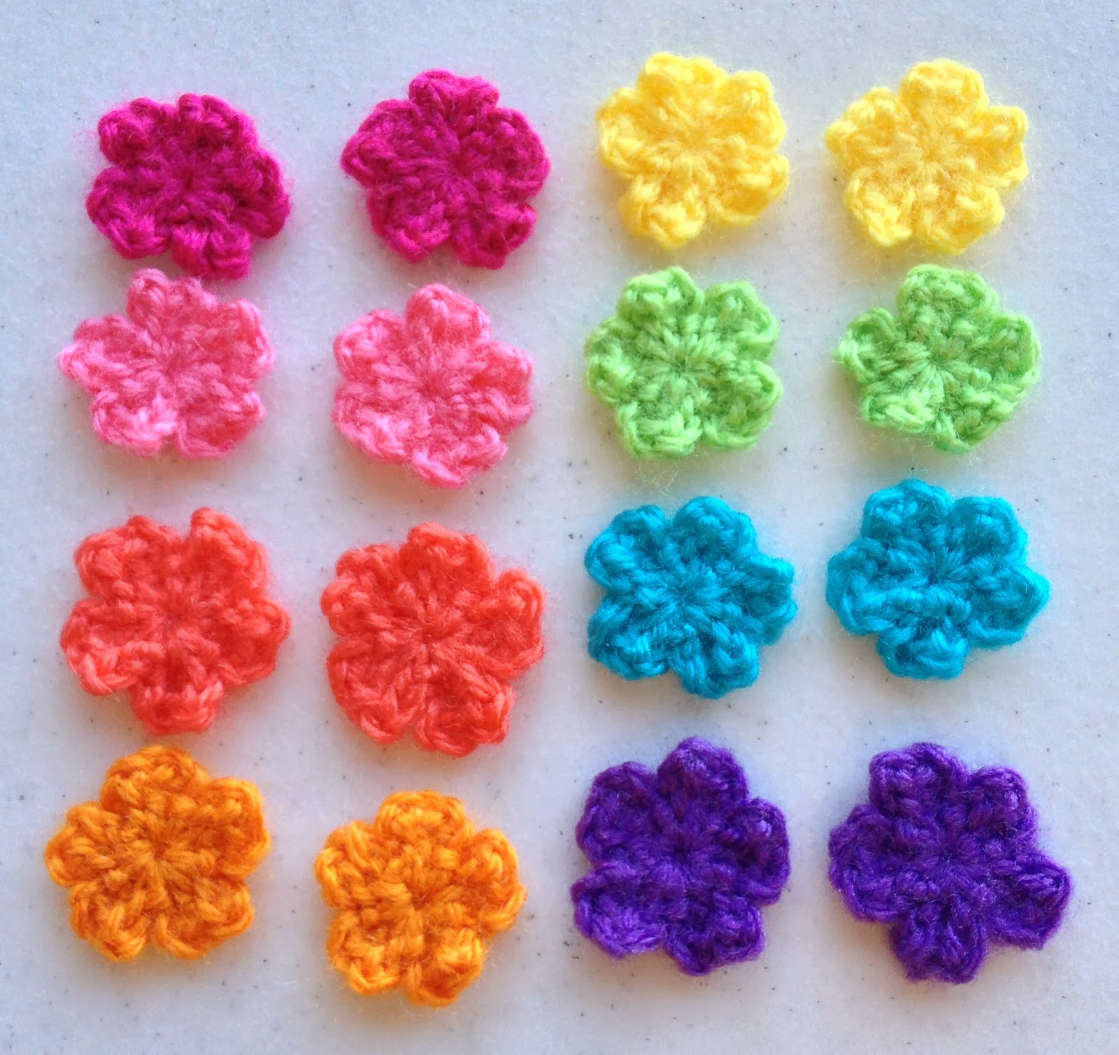 Make ALL The Things Small Flower Crochet Pattern