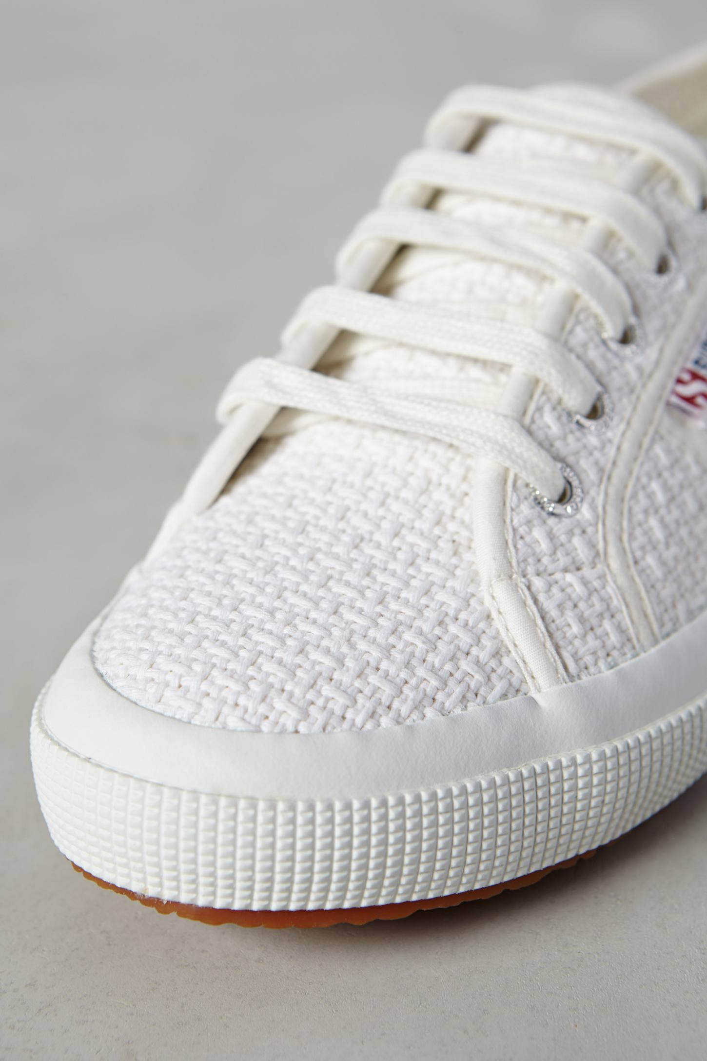 Lyst Superga Crochet Sneakers in White