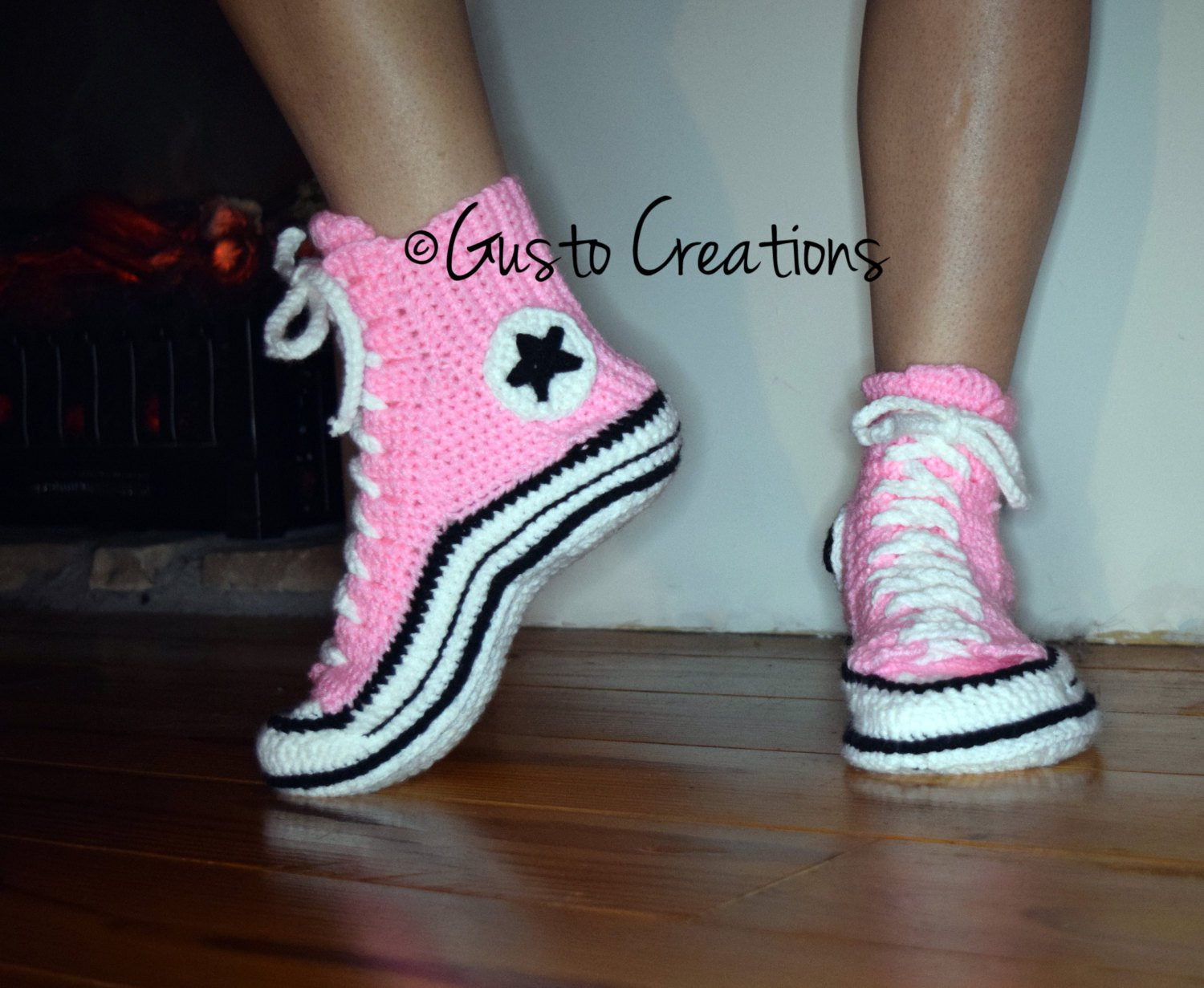 adult converse slippers crochet pdf