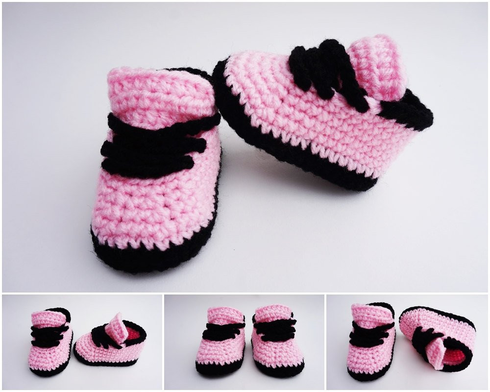 Crochet Sneakers Inspirational Crochet Baby Shoes Nike Style Crochet Sneakers Girls Sneakers Of Gorgeous 50 Pics Crochet Sneakers