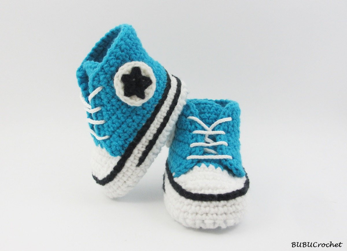Crochet Sneakers Lovely Turquoise Baby Crochet Converse Sneakers Newborn Crochet Of Gorgeous 50 Pics Crochet Sneakers