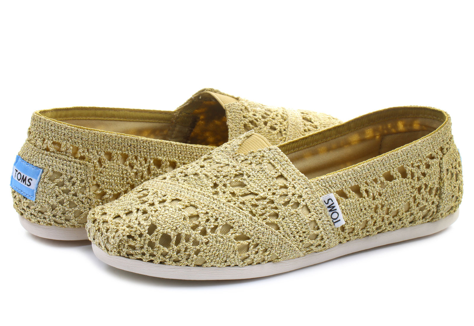 Crochet Sneakers Luxury toms Slip On Alpargata Crochet Gld Line Of Gorgeous 50 Pics Crochet Sneakers