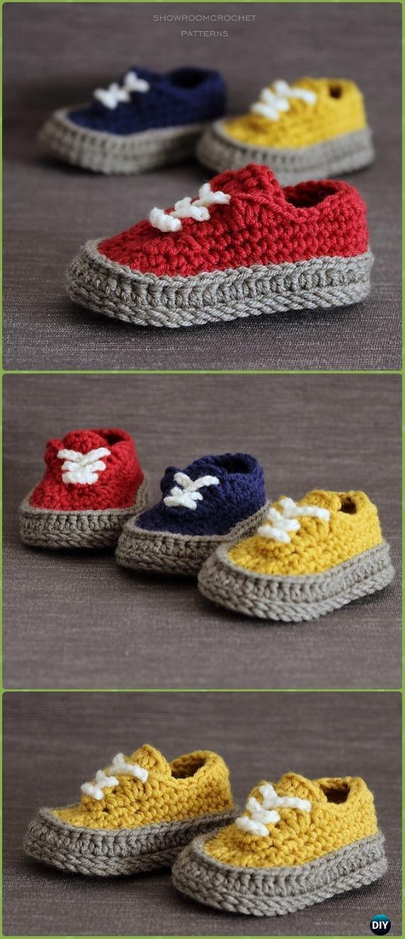 Crochet Sneakers Unique Crochet Sneaker Slipper Booties Free Patterns & Paid Baby Of Gorgeous 50 Pics Crochet Sneakers